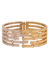 Dual-toned Crystal Embellished Cuff - CIRCUZZ