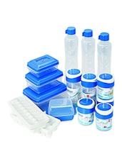 Blue Food Grade Plastic  Fridge Kit Set  Set Of  15 - Cello