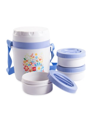 grey BPA free plastic container &  Insulated food grade plastic body Insulated nsuLunch carrier -  online shopping for Lunch Boxes