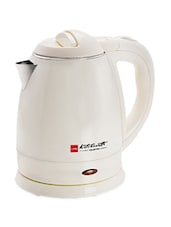 White 1.2 Ltr Electronic Kettle - Cello