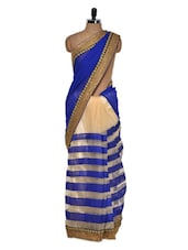 Royal Blue Luxe Evening Saree - Get Style At Home