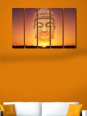 Printed Buddha Modern Wall Art Painting - 5 Pieces - 999store