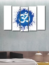 Printed Om Wall Art Painting - 5 Pieces - 999store