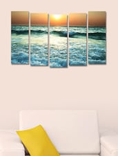 Printed Sea Wall Art Painting - 5 Pieces - 999store