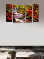 Forest River Wall Art Painting - 5 Pieces - 999store