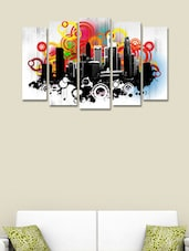 Retro City Modern Wall Art Painting - 999store