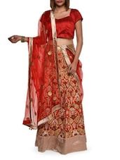 Luxe Red Art Silk Lehenga Set - Aggarwal Sarees