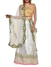 Silvery White Luxe Net Lehenga Set - Aggarwal Sarees