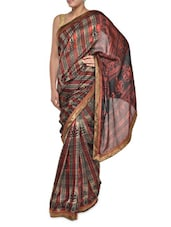 Multi Print Chic Maroon Georgette Saree - Aggarwal Sarees