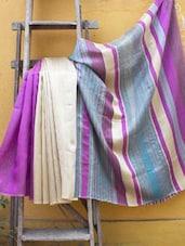Multi-coloured Raw Gheecha Silk Saree - Cotton Koleksi
