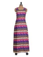 Multi Coloured Printed Maxi Dress - Colbrii
