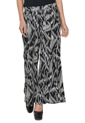 Black And White Printed Palazzo - Colbrii