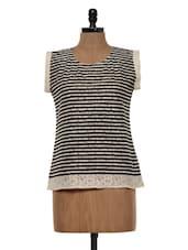 Black And White Striped Top - Colbrii