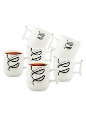 Designer Cups Set Of 6 - Buono Casa