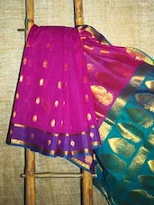 Magenta And Gold Banarasi Saree - BANARASI STYLE