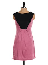 Mauve And Black Sleeveless Dress - Glam And Luxe