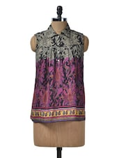 Ethnic Printed Cotton Top - Glam And Luxe