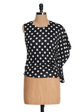 Black And White Polka-dotted Top - Glam And Luxe