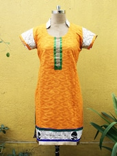 Yellow And Mustard Printed Kurti - Sutee