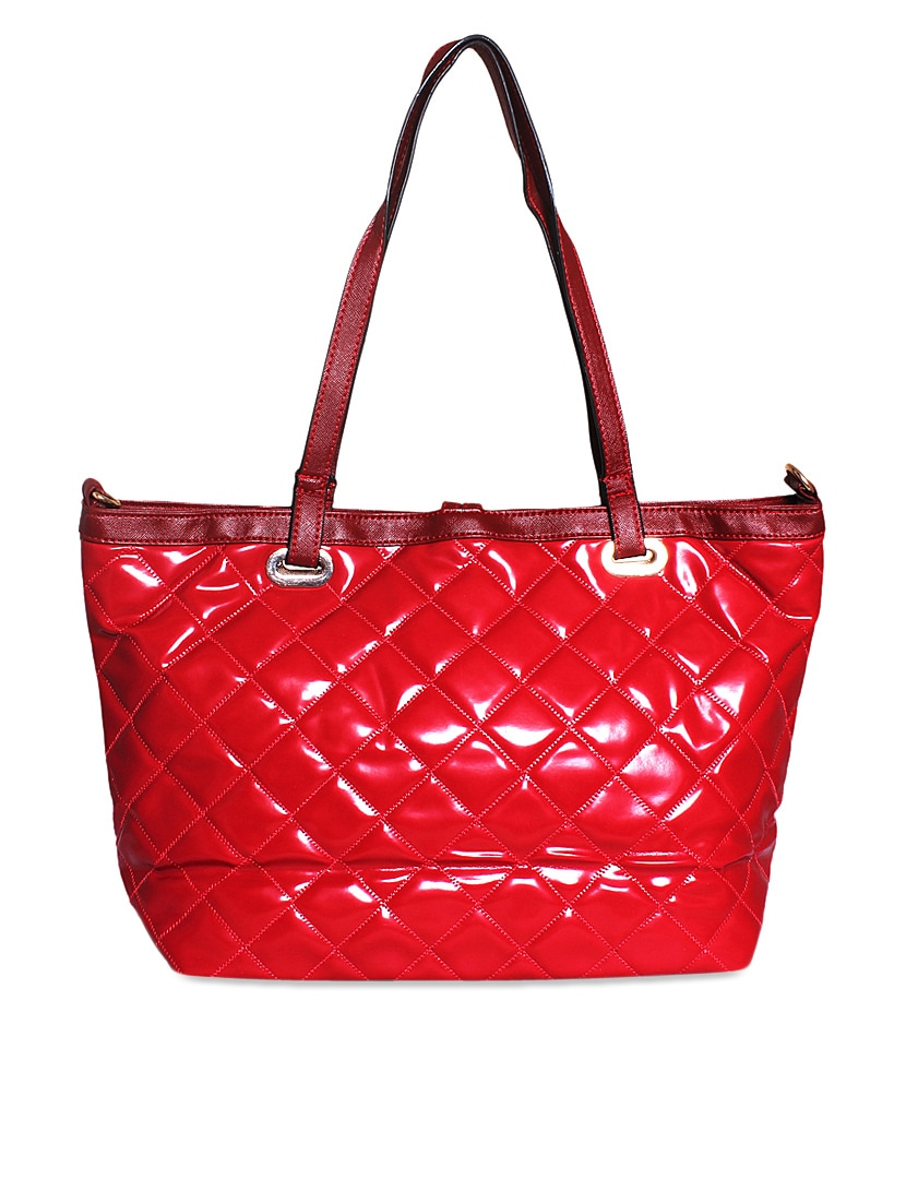 Bright Red Textured Handbag By Ligans Ny Online Ping For Handbags In India 945377