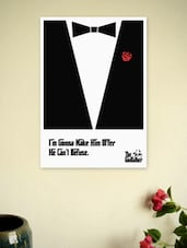The Godfather Movie Dialogues Poster - Lab No. 4 - The Quotography Department