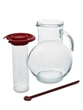 Glass Decanter With Ice Tube And Stirrer - Bormioli Rocco