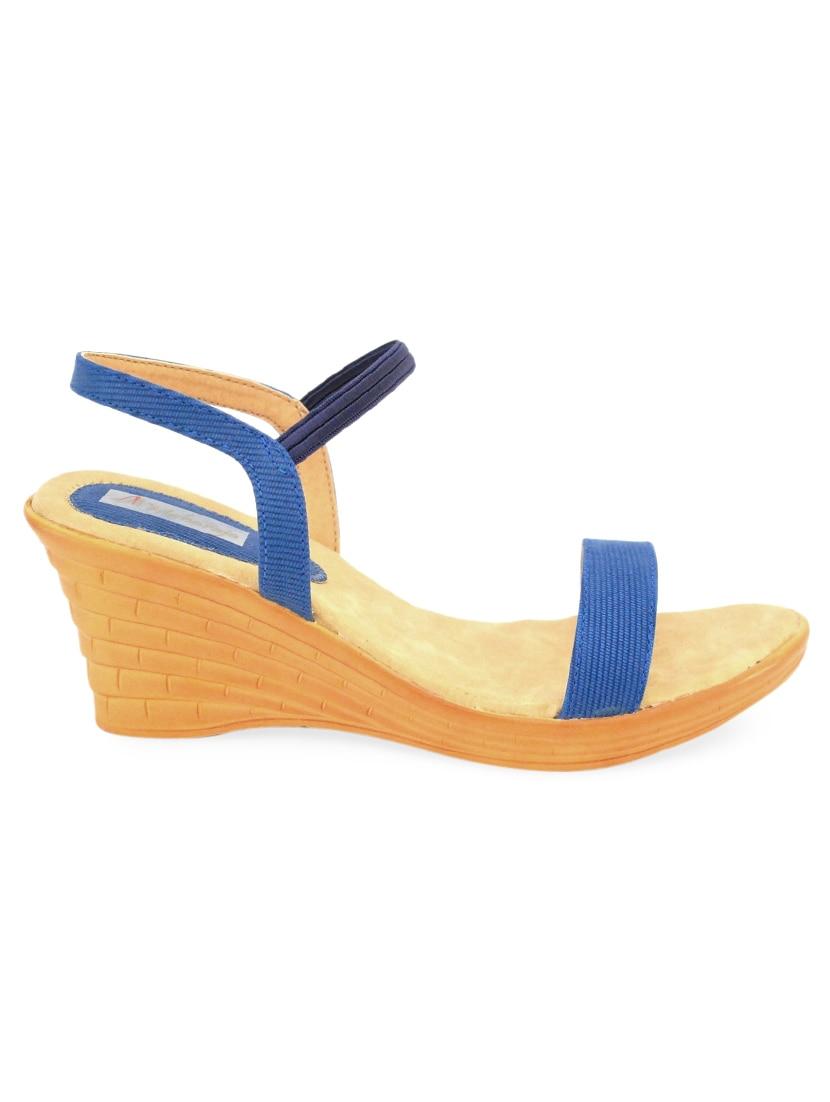 Blue Peep-toe Wedges - MAHARAJA