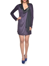 Purple And Black Party Dress - BODYAMR