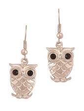 Silver Owl Earrings - THE BLING STUDIO