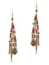 Antique Gold Beaded Earrings - THE BLING STUDIO