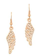 Gold Studded Wing Earrings - THE BLING STUDIO