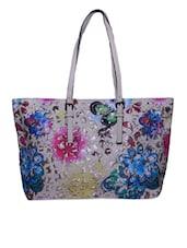 White Floral Handbag - Lass Lee