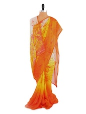 Amazing Floral Printed Saree With Blouse Piece - ROOP KASHISH