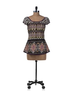 Ikat Print Sleeveless Top - Ayaany