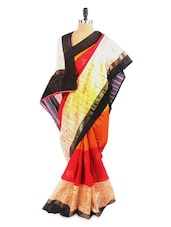 Festive Yellow And Red Saree With Blouse Piece - ROOP KASHISH