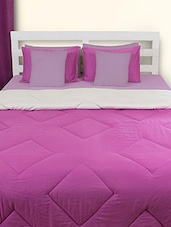 Purple And Grey Double Comforter - HOUSE THIS