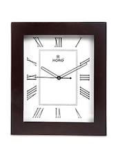 White MDF Square Wooden Case Wall Clock - Horo