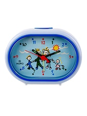 Blue Plastic Kids Table Clock - By