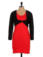 Red And Black Party Dress - Xniva