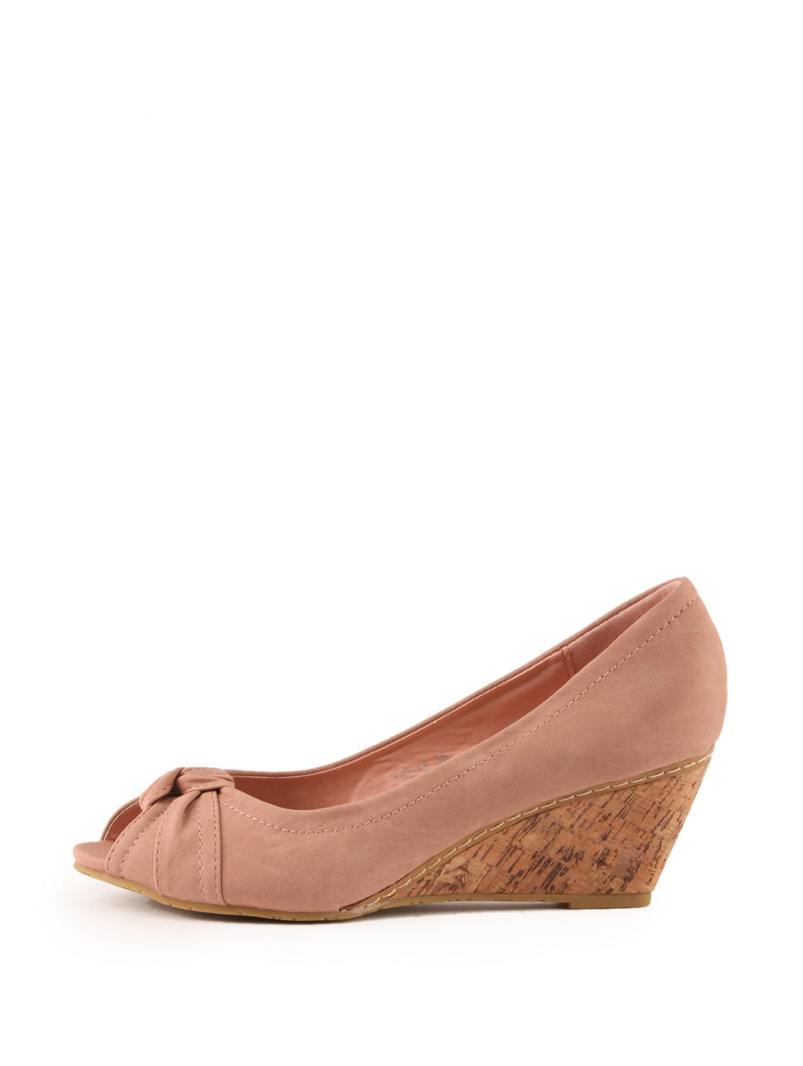 8a82250c38c Buy Pink Peep Toe Wedge Sandals With Cork Heel for Women from Tresmode for  ₹2700 at 0% off