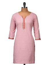 Elegant Pink Printed Kurti - Jaipurkurti.com