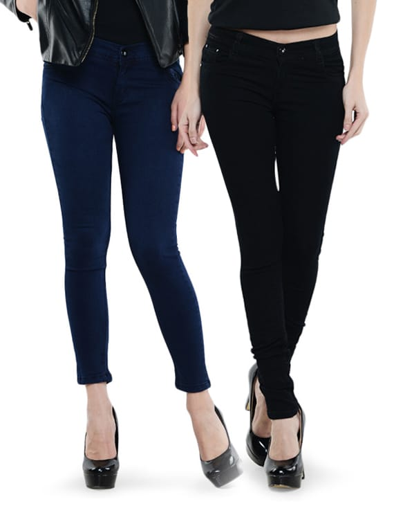 Combo Of Black And Navy Blue Jeans - Dashy Club