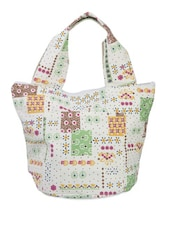 Multi-coloured Printed Hand Bag - Voylla