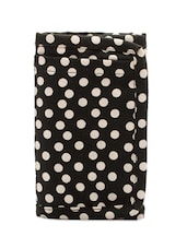 Black And White Polka Dotted Pouch - Voylla