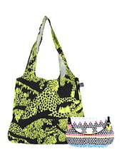 Multi-coloured Canvas Tote And Sling Bag Combo - Be... For Bag
