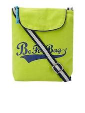 Lime Green Canvas Sling Bag - Be... For Bag