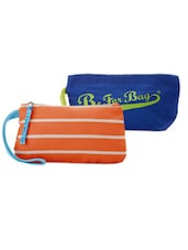 Blue And Orange Pack Of 2 Wrislet Combo - Be... For Bag