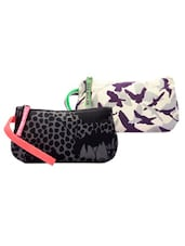 Black And Purple Pack Of 2 Wrislet Combo - Be... For Bag
