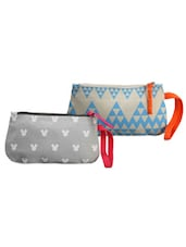 Blue And Grey Pack Of 2 Wrislet Combo - Be... For Bag