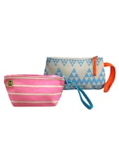 Pink, Blue And Grey Pack Of 2 Wrislet Combo - Be... For Bag